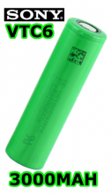 Bateria Sony VTC6 18650 de 3000 Mah 30a